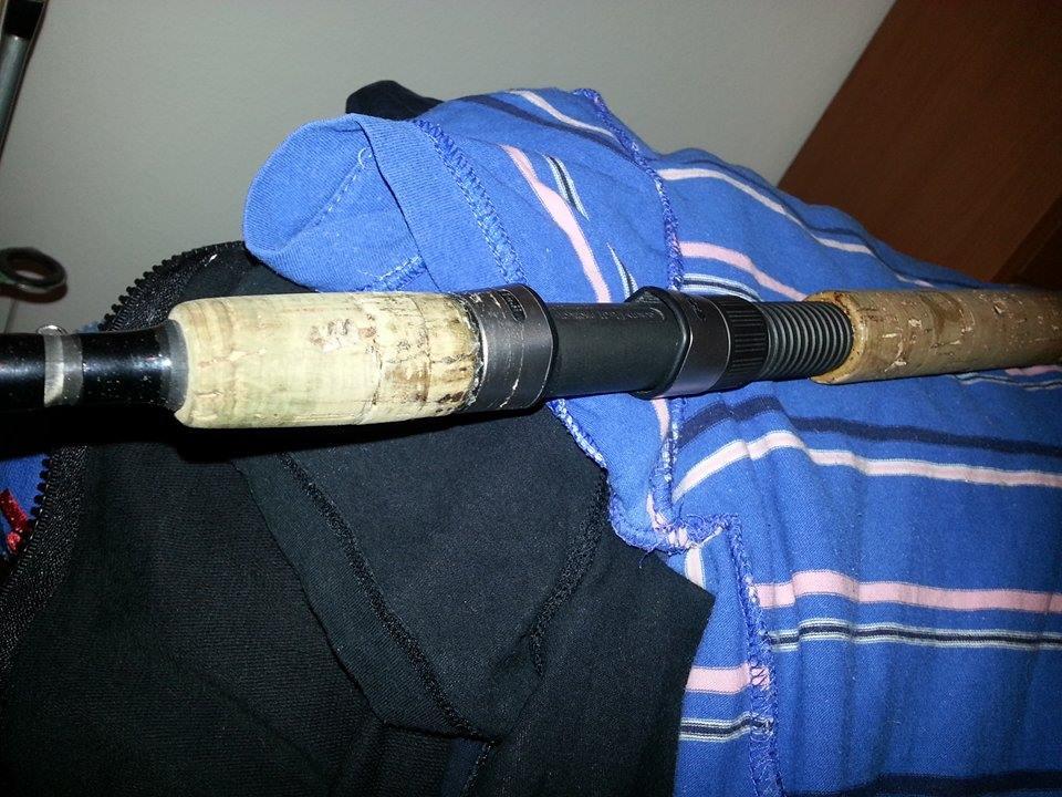 riparare portamulinello sughero canna pesca 2