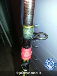 riparazione canna da pesca spinning 2